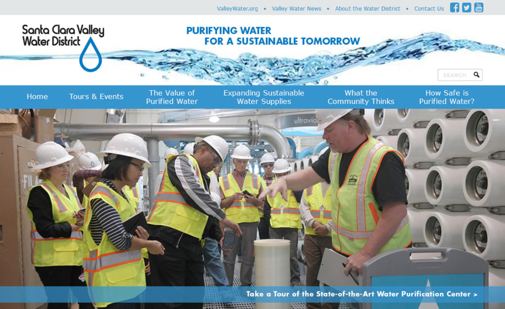 Santa Clara Valley Water District website