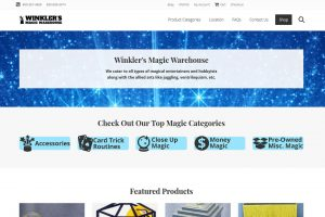 Winklers Magic Warehouse website