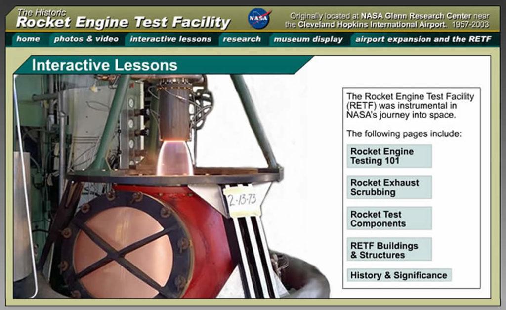 NASA retf website