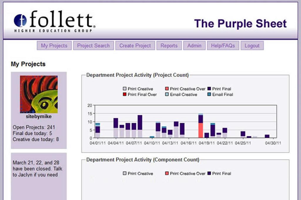 PurpleSheet project tracker