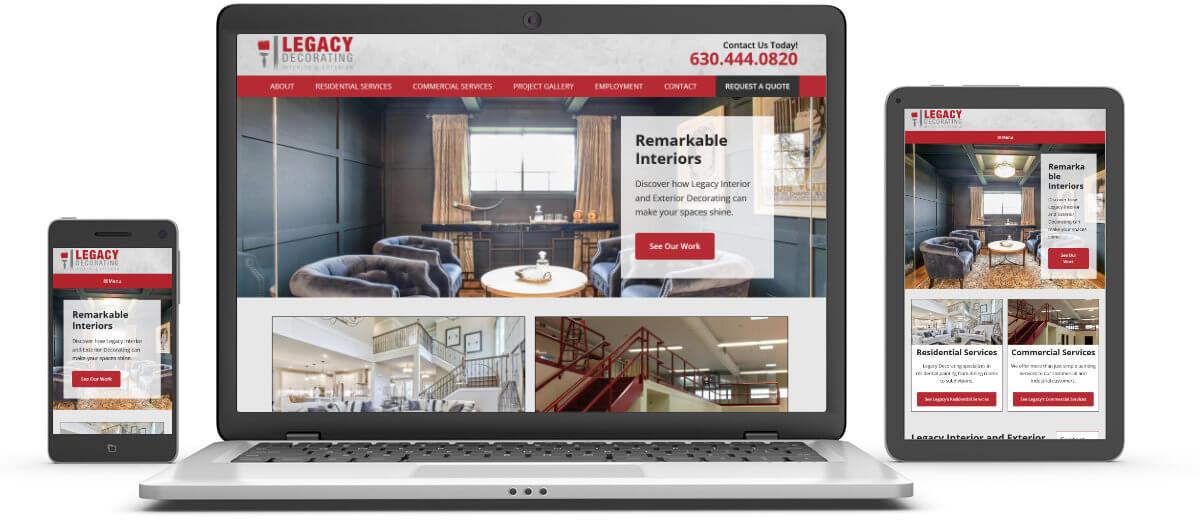 Legacy Decorating website samples